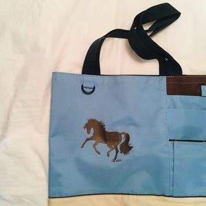 Blue Horse Decal Tote Bag